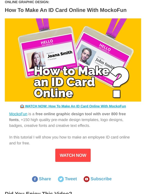 Mockofun Video How To Make An Id Card Online Milled