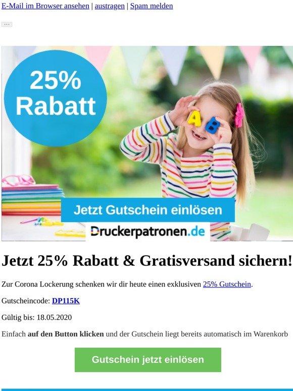 ▶ 25% Druckerpatronen.de Gutschein + Gratisversand