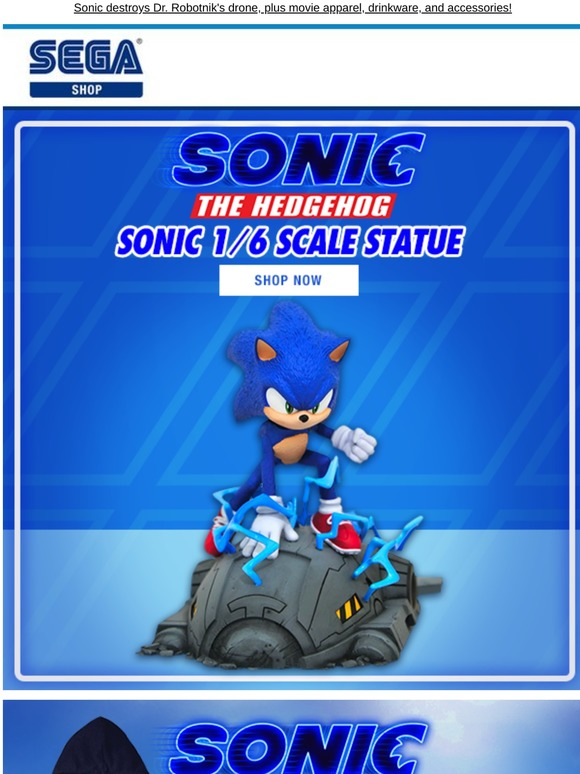 Shop Sega See The New Sonic Figure From The Sonic Movie Milled