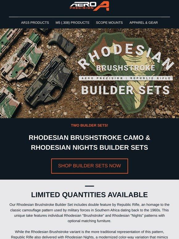 aero precision: Rhodesian Brushstroke Camo Builder Sets
