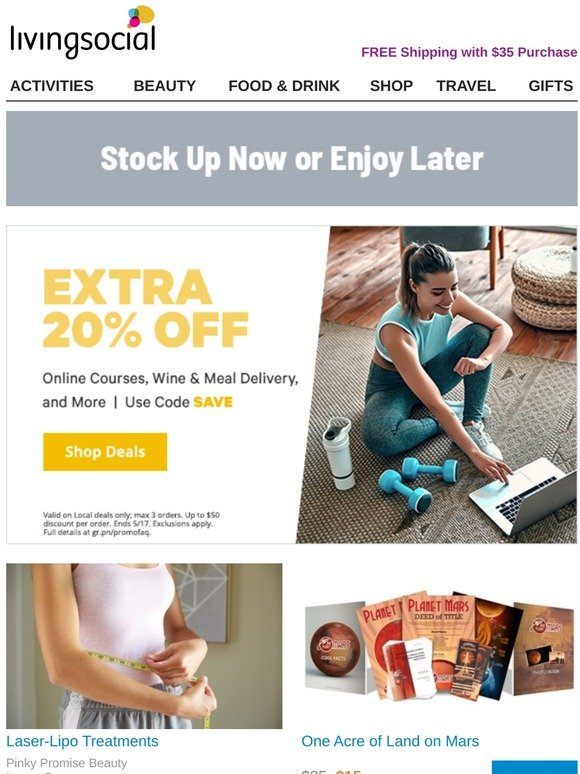 Livingsocial Uk Email Newsletters Shop Sales Discounts And Coupon Codes Page 10