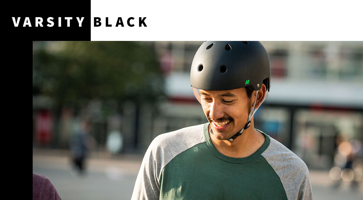 K2 Varsity Pro Black Inline Skates Helmet