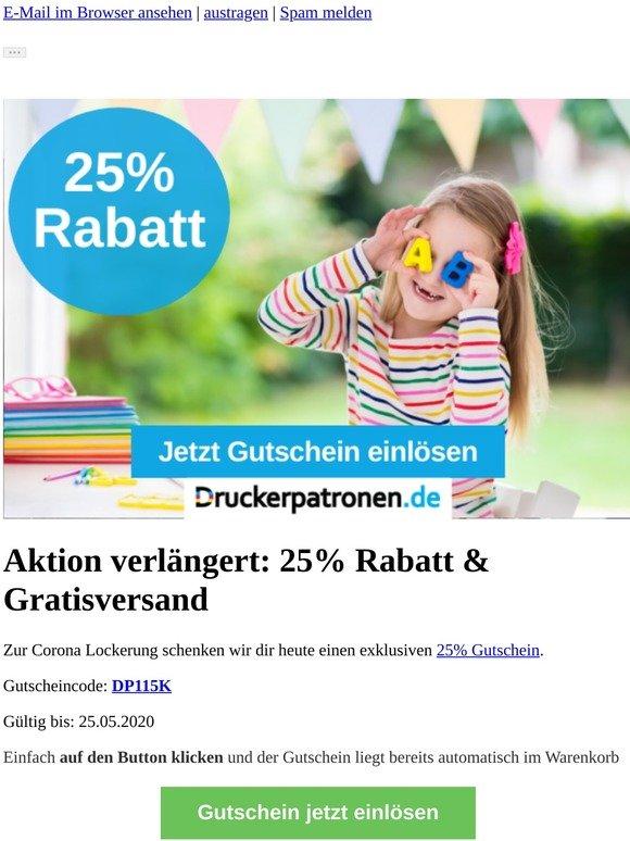 -25% ▶Corona Lockerung◀ bei uns mit Gratisversand bestellen
