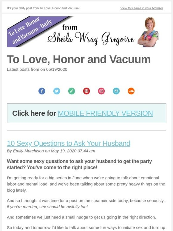 Questions to ask your husband in bed