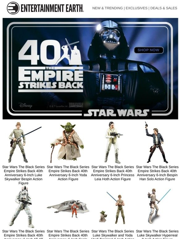 Entertainment Earth Celebrate 40 Years Of The Empire Strikes Back Milled