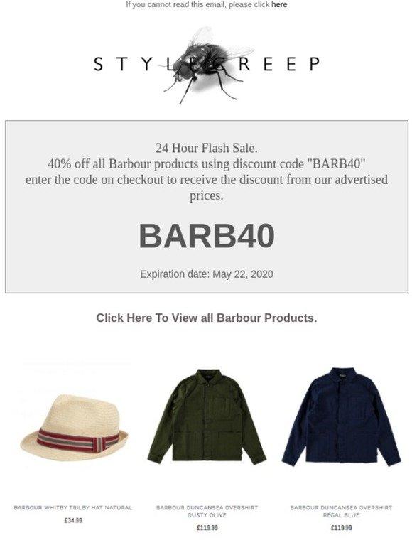 barbour discount