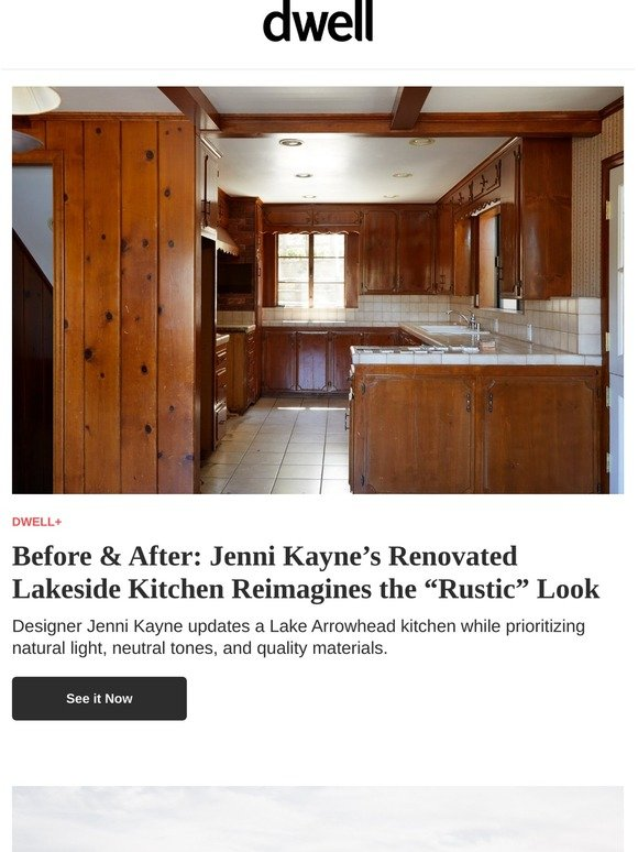Dwell Jenni Kayne S Renovated Lakeside Kitchen Reimagines The Rustic Look Milled