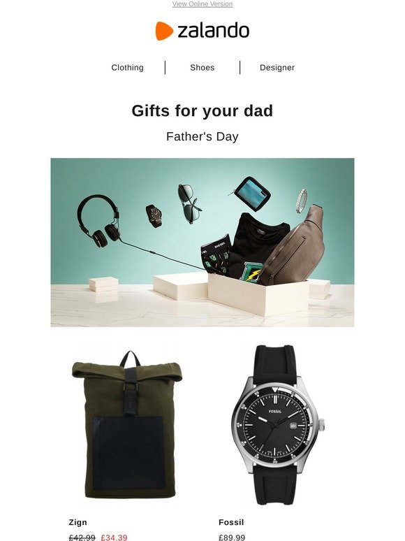 Zalando AG: Father's Day: Gifts for the