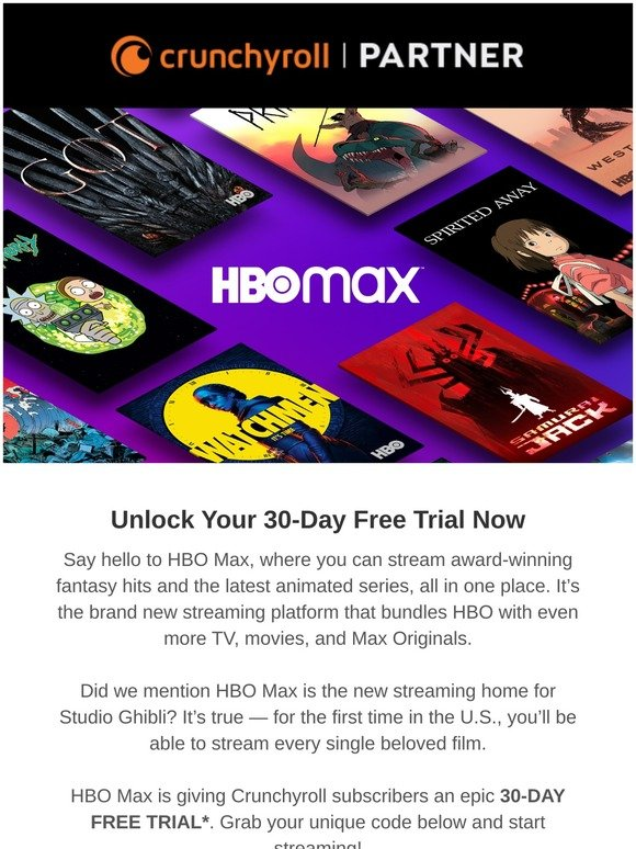 Crunchyroll Store Grab This Epic 30 Day Free Trial From Hbo Max Milled