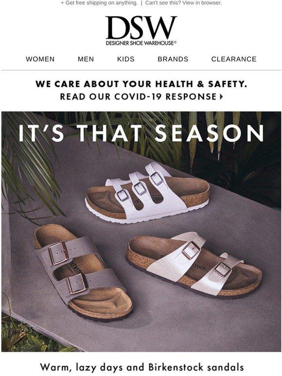 DSW: All. The. Birkenstock. Sandals