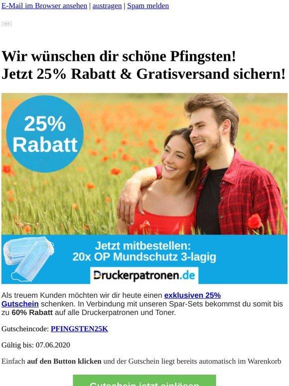 ▶ Jetzt 25% Pfingst-Rabatt & Gratisversand sichern