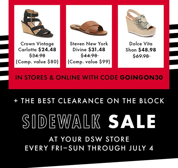 DSW: Re: Extra 30% off clearance. | Milled