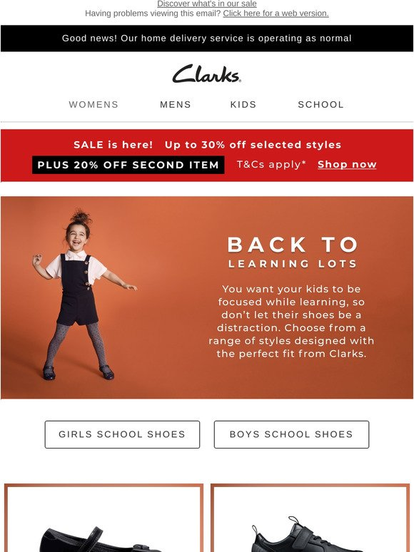 Clarks UK: For when the time comes to