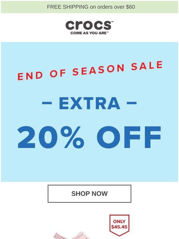 Crocs SG: EXTRA 20% OFF - End of Season