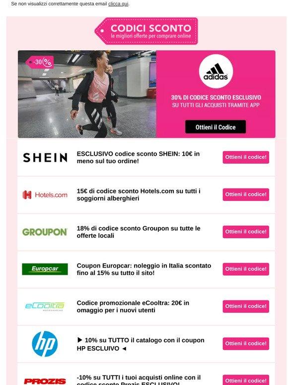 Alienare lo studio Gentiluomo  Gazzetta Digitale IT: Offerte SHEIN, HOTELS.COM, HP ma non solo, scopri la  sezione Codici Sconto sul sito | Milled