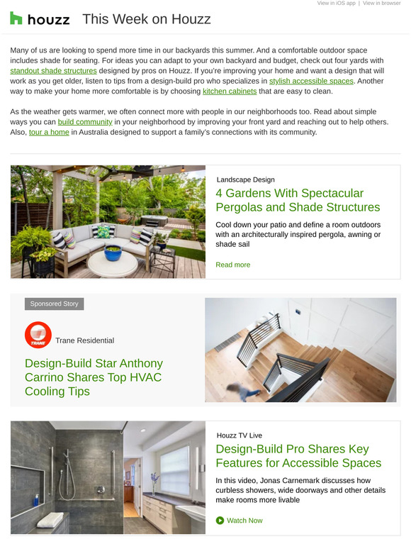 Houzz 4 Backyards With Cool Shade Ideas Pro Tips On Designing For Accessibility Bathroom Of The Week Milled