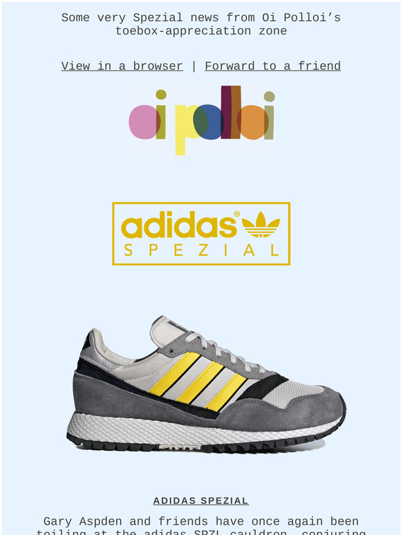 Oi Polloi: adidas Spezial and Nigel's