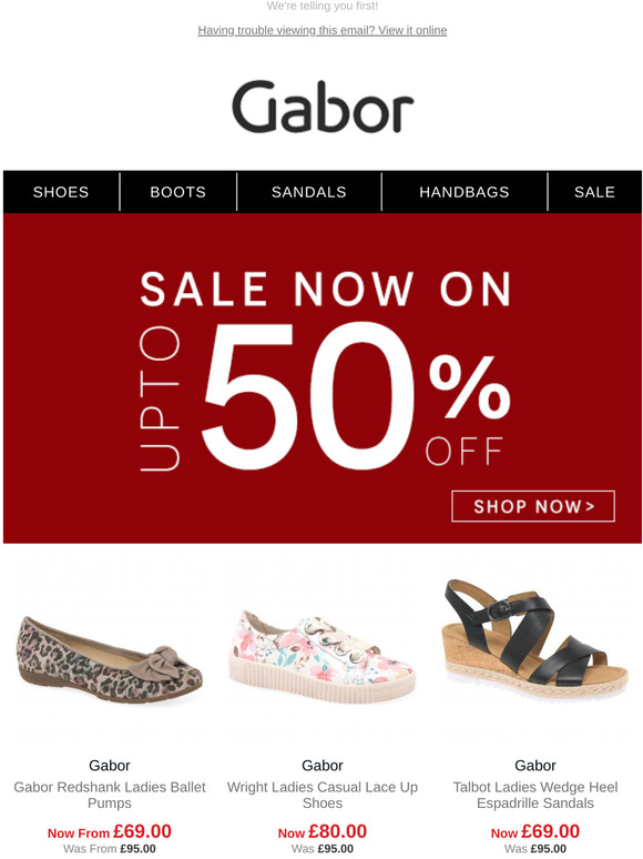 Gabor Shoes: SALE: Up to 50% Off! | Milled