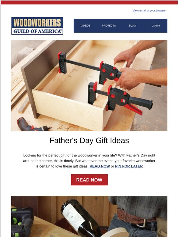 Woodworkers Guild Of America Father S Day Gift Ideas You Can Build Or Buy Milled