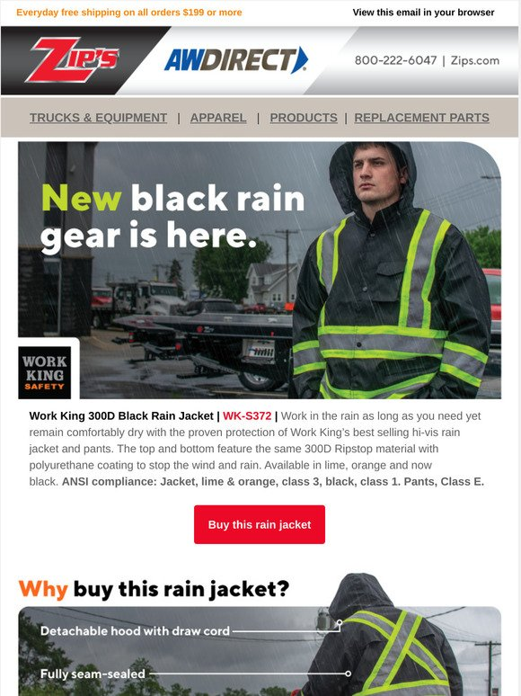 Aw Direct Maintain A Clean Look With New Black Rain Gear Milled Packs up nice and small in your kit, ready to break out when the weather turns bad. milled