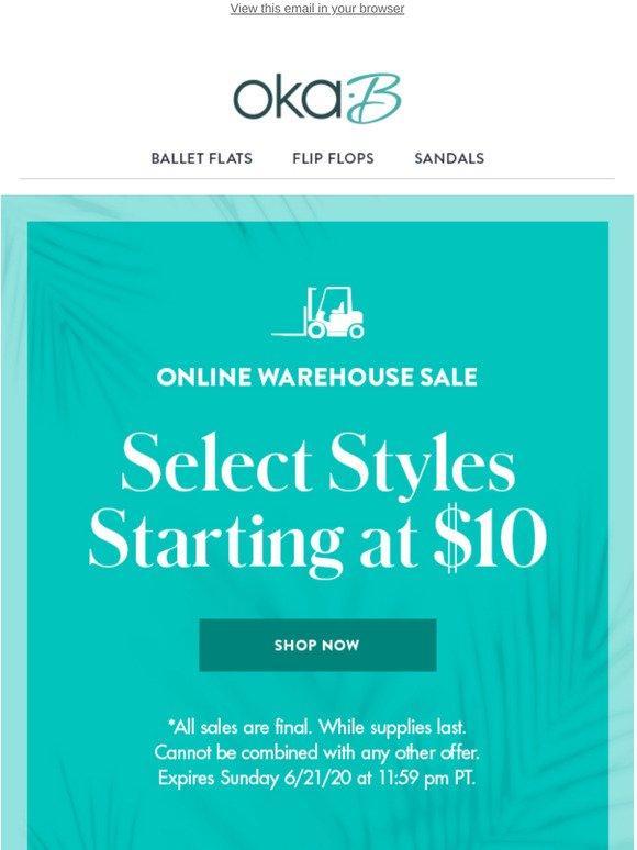 Online Warehouse Sale Starts Now