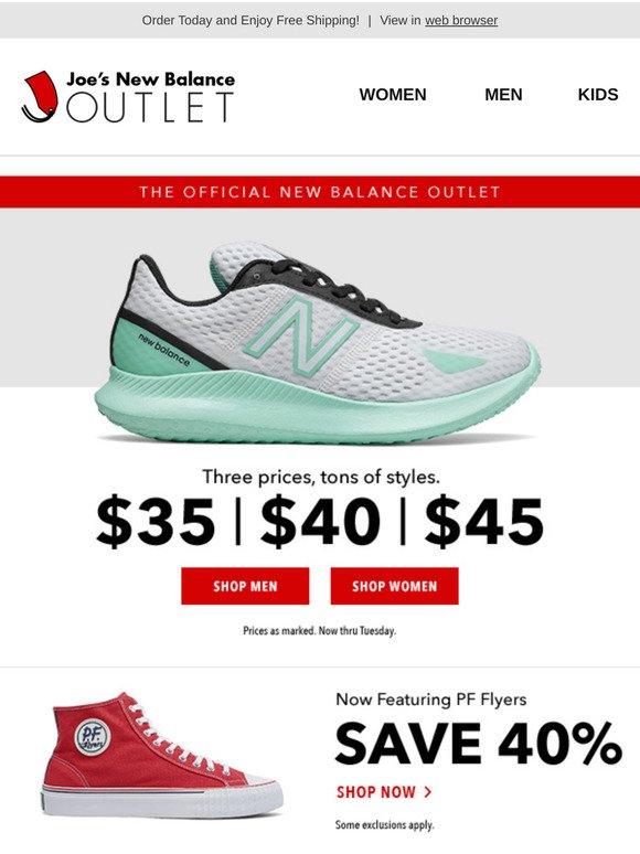 FINAL HOURS: NB Shoes $45