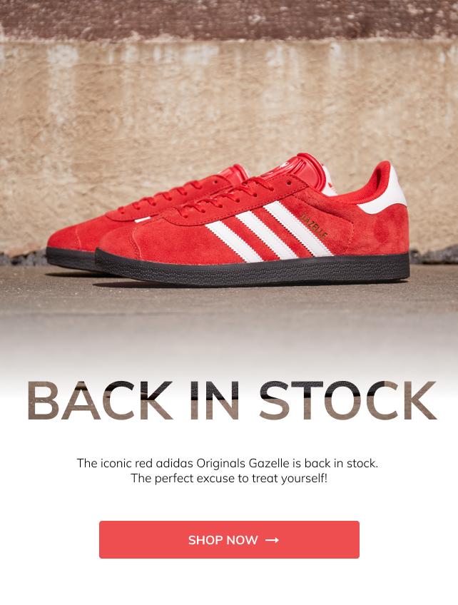 Red adidas Originals Gazelle