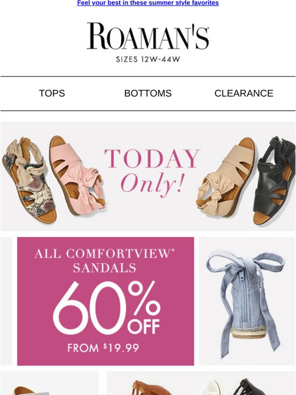 60% OFF ALL Comfortview sandals | Milled