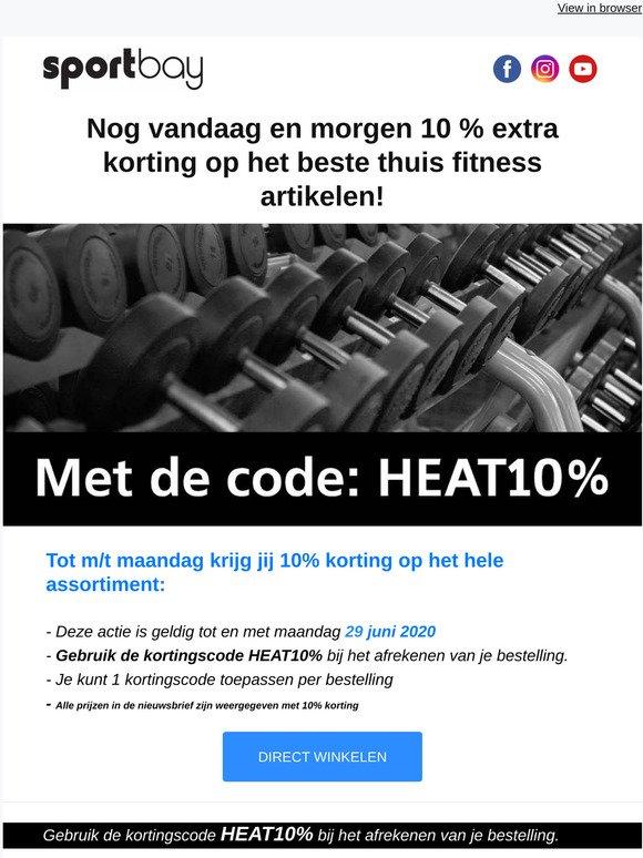 Sportbay Nl Nog Vandaag En Morgen 10 Extra Kassakorting Op Alles Milled