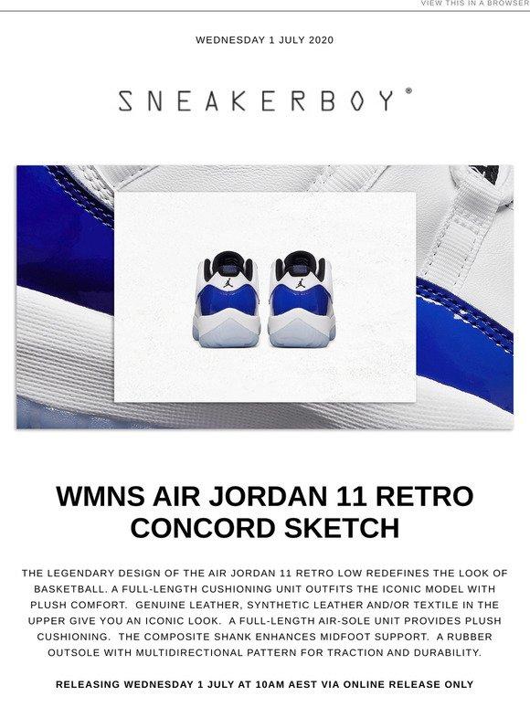 Sneakerboy Air Jordan Wmns 11 Retro Low Concord Sketch Milled