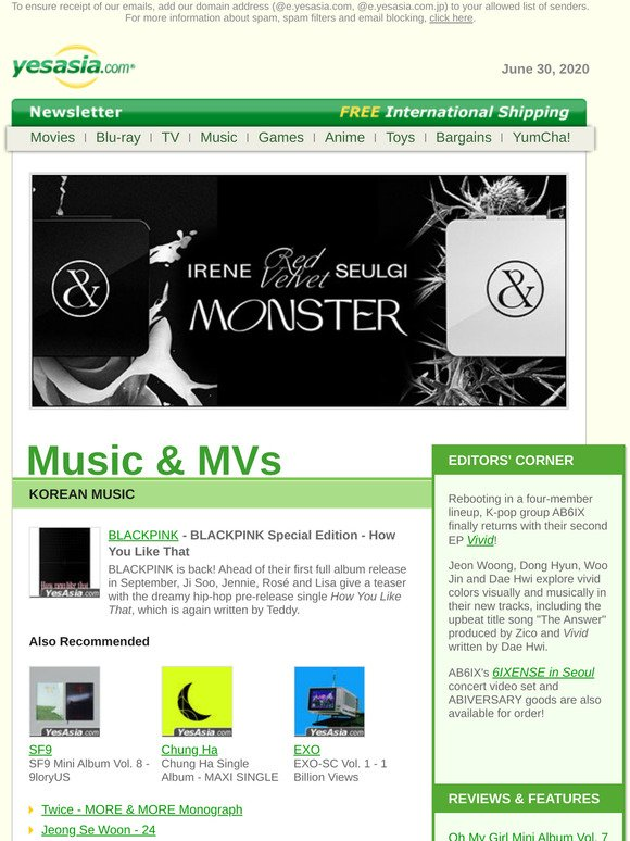 Yesasia Email Newsletters Shop Sales Discounts And Coupon Codes Page 4