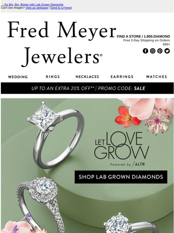 Fred Meyer Jewelers Go Big Big Bigger With Lab Grown Diamonds Milled