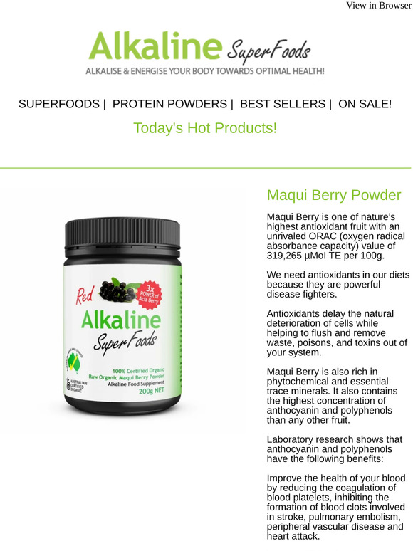 Alkaline Superfoods We Think You Ll Love Maqui Berry Powder And