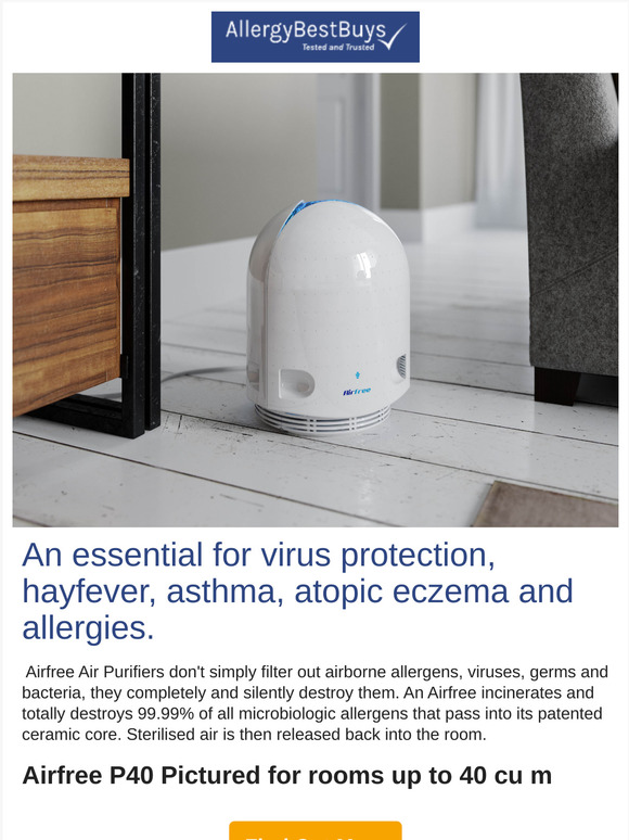 Allergy Best Buys: Airfree Air Purifiers now in stock | Milled