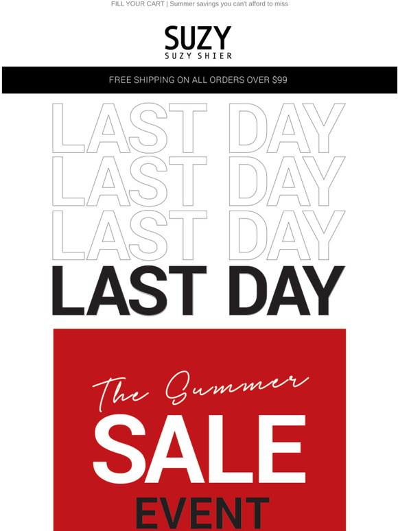 Suzy Shier Last Day Get It Or Regret It Summer Sale Jackpot Milled