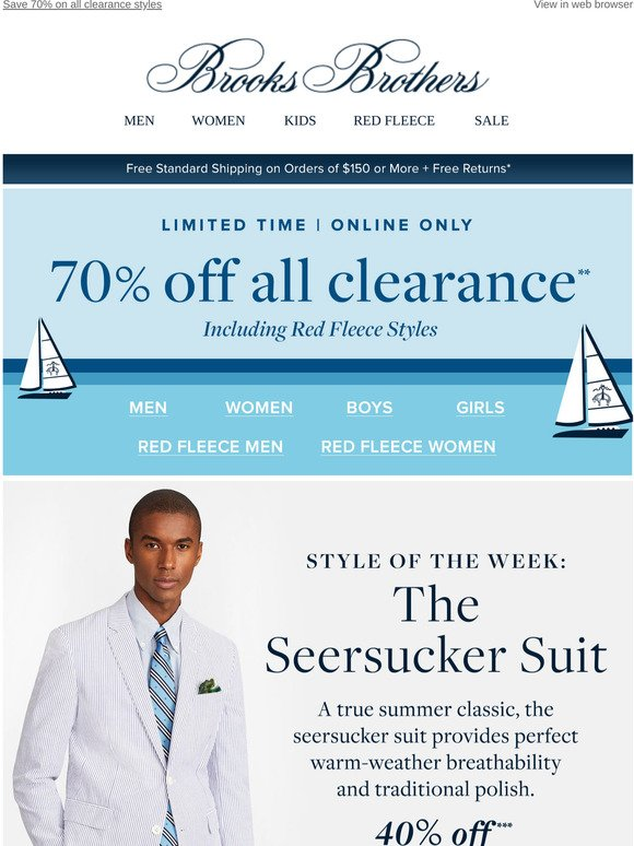 Brooks Brothers Style Of The Week The Seersucker Suit Now 40