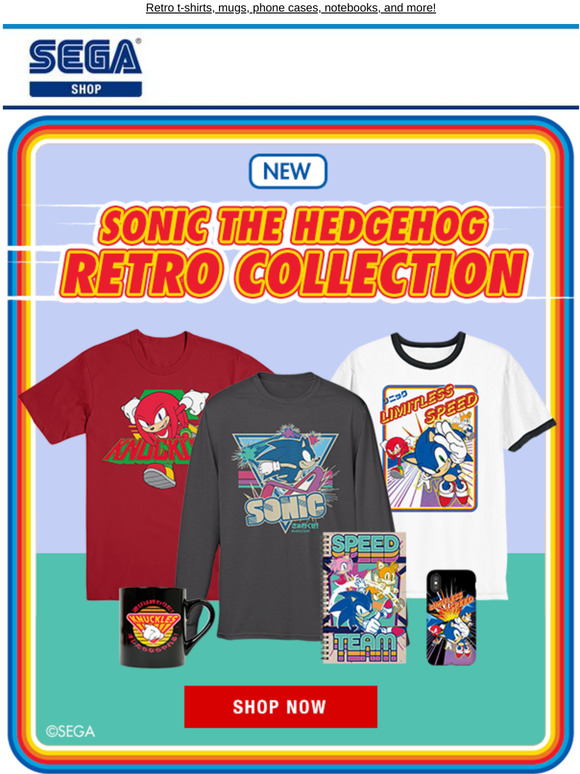 Shop Sega Check Out The New Sonic The Hedgehog Retro Collection In The Sega Shop Milled
