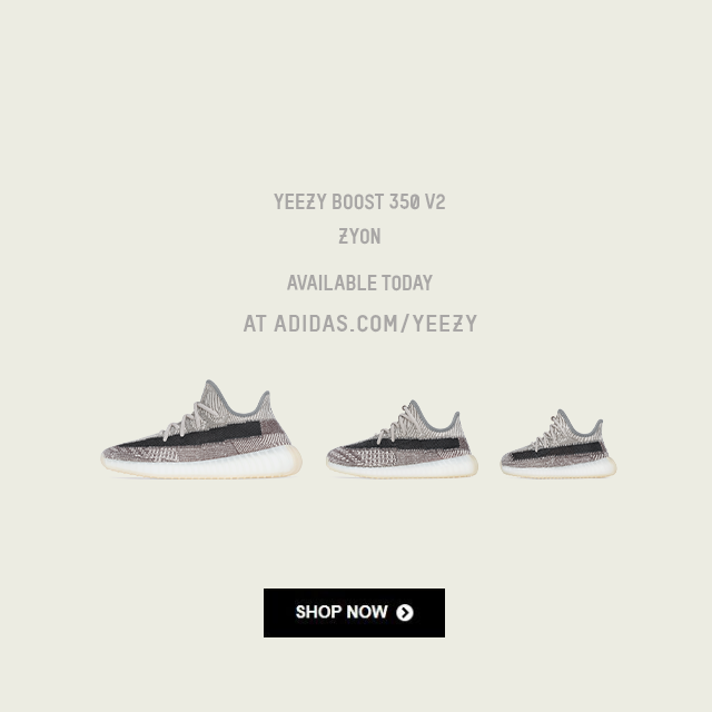 YEEZY BOOST 350 Zyon LAUNCHES TODAY