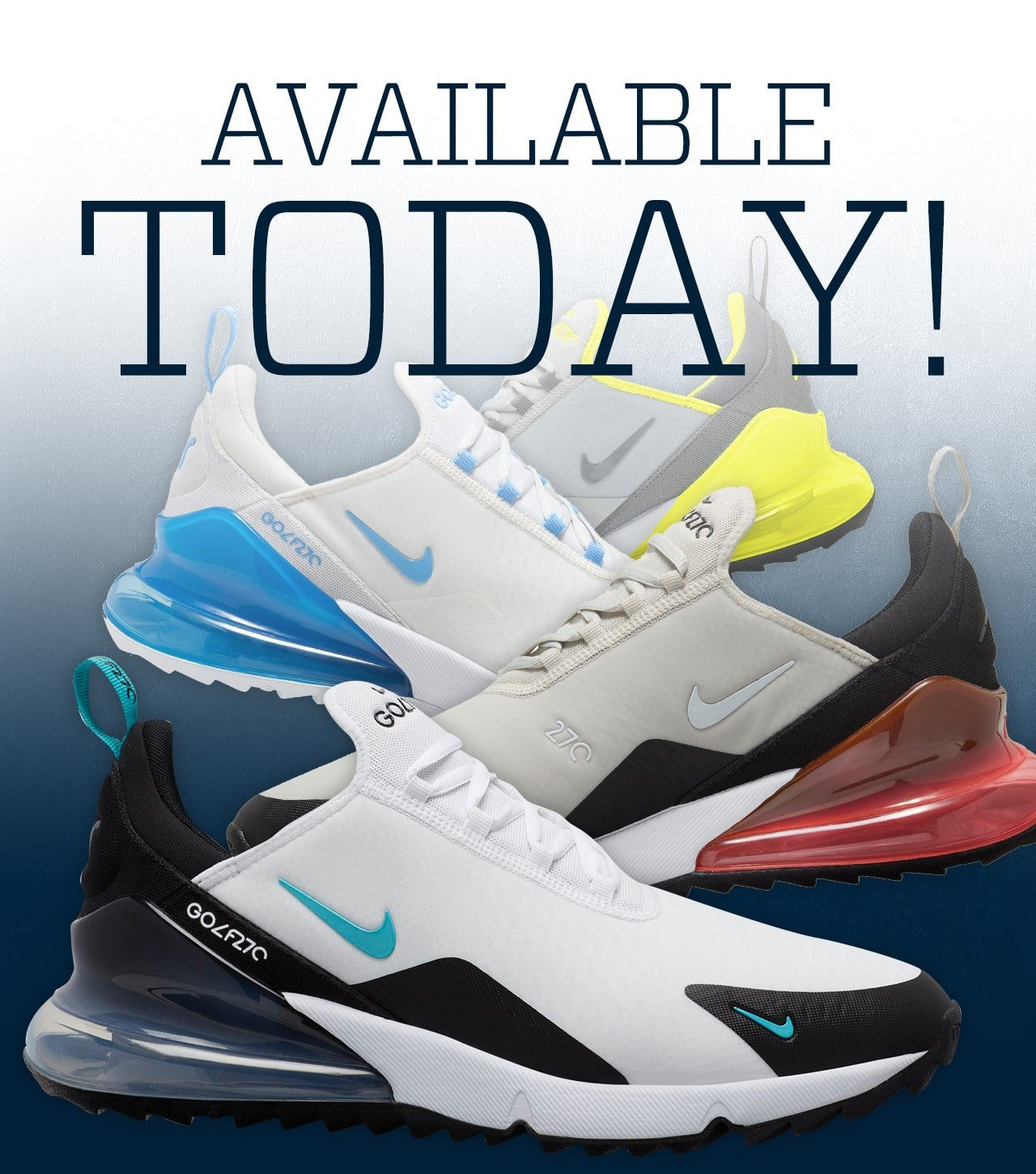 Golf Galaxy New Men S Nike Air Max 270 G Is Here Milled