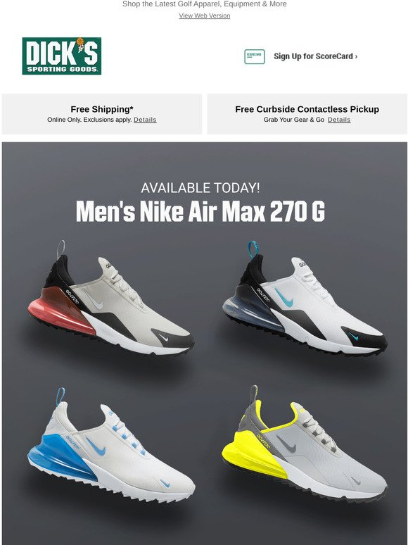 The Sports Authority Out Now Men S Nike Air Max 270 G Milled