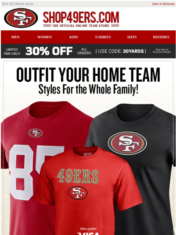 San Francisco 49ers Team Shop Email Newsletters Shop Sales Discounts And Coupon Codes Page 3