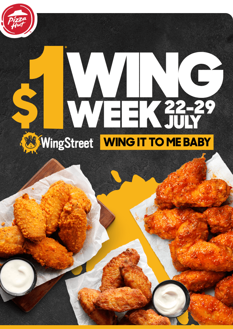 Pizza Hut Alert It S 1 Wings Week Ditch The And Wing It Milled