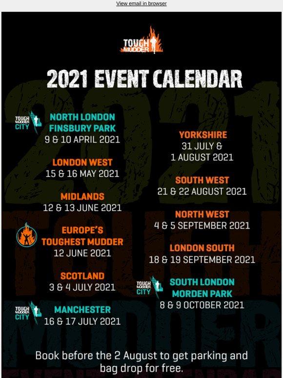 ToughMudder: 2021 Event Calendar is here 👀 | Milled