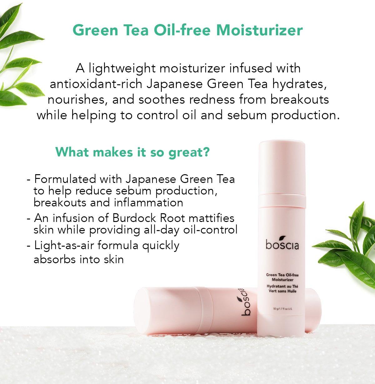 The Best Boscia Green Tea Oil-Free Moisturizer  PNG
