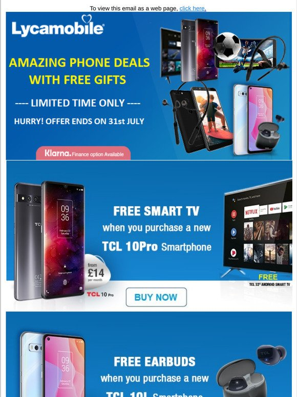 Lycamobile Amazing Phone Deals With Free Gifts Milled