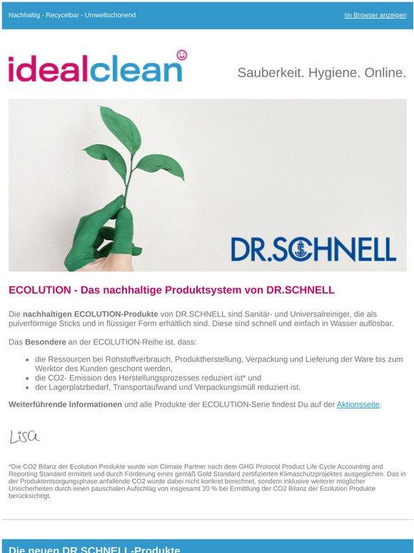 Neu im Sortiment: DR.SCHNELL ECOLUTION