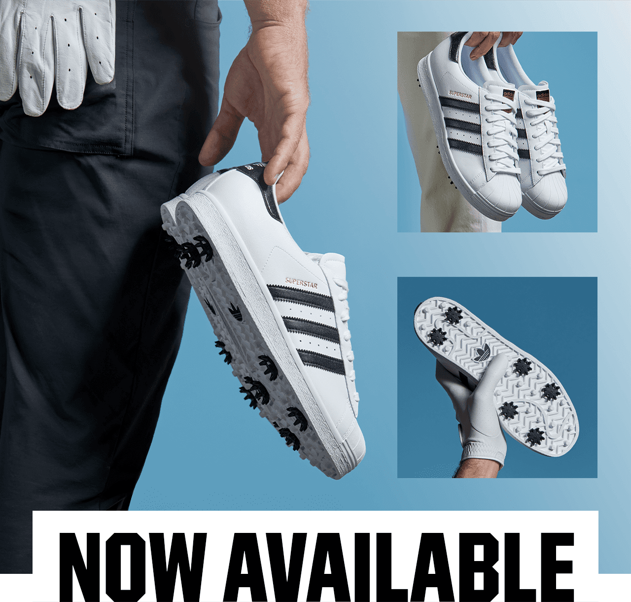 The Sports Authority Now Available Men S Adidas Superstar Golf Shoes Milled
