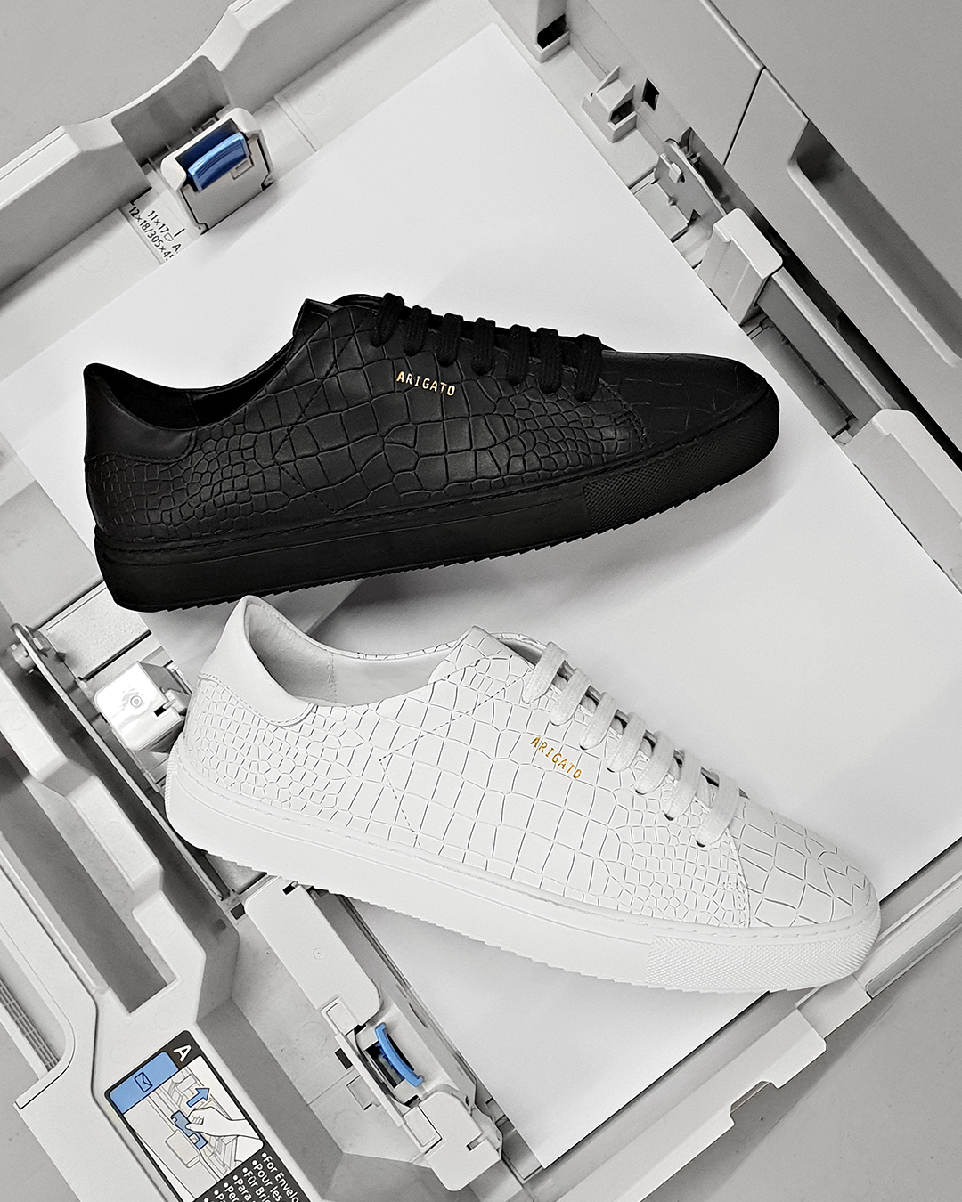 Axel Arigato: Clean 90 croc-leather has