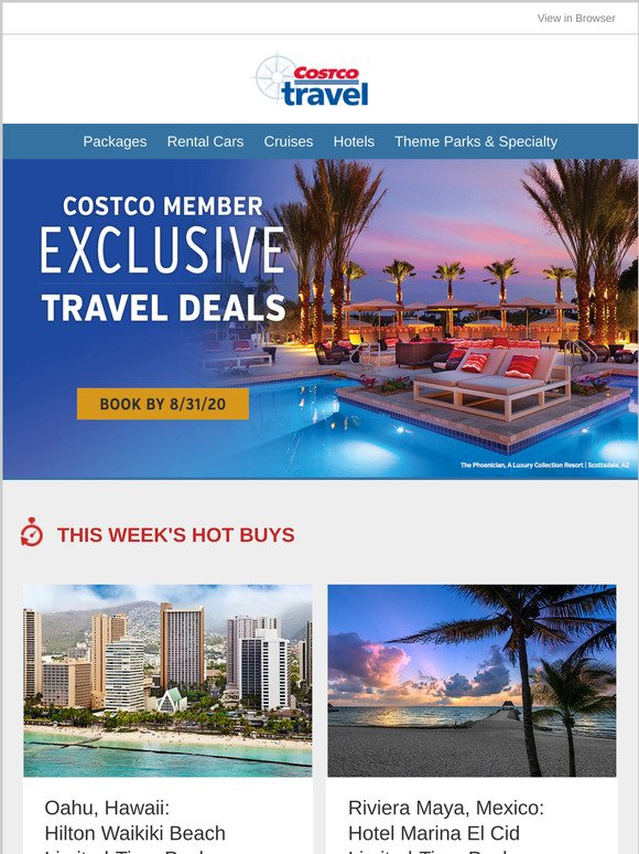 Costo: Costco Travel Hot Buys - 5 Days Only | Milled