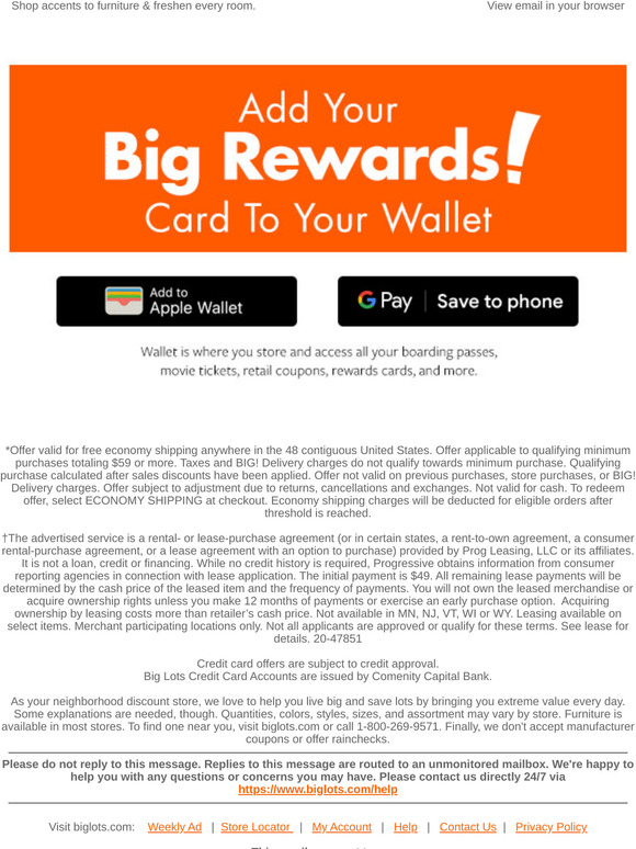 Big Lots Email Newsletters Shop Sales Discounts And Coupon Codes Page 7